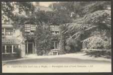 Postcard Freshwater Bay on Isle of Wight at Farringfort by Levy LL 10 green back