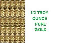 GOLD . 5 TROY OZ 24K PURE SOLID TGR TEXAS BULLION BARS 999.9  INGOT 1/50th LOT