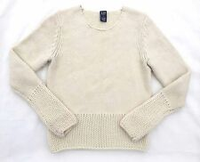 GAP Wool Chunky Knit Sweater Off White Womens Sz Small