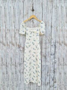 & Other Stories Puff Sleeve Linen Midi Dress - 34 / Was Selling At Asos