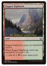 4x Rugged Highlands (Wildes Hochland) Mind vs. Might Magic