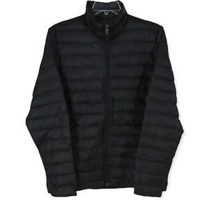 REI Co-op Men's Black Full Zip Long Sleeve Puff Down Jacket Packable