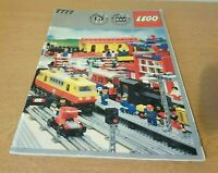 LEGO Idea Book Trains 7777 4,5v/12v Railway Vintage. Libro treni 80s