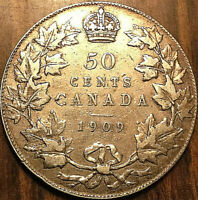 1909 CANADA SILVER 50 CENTS - Excellent example !