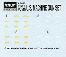 Academy 1:35 US Machine Gun Set Decal Sheet #1384XU