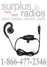 KENWOOD OEM KHS-34 C RING HEADSET WITH IN-LINE PTT FOR PKT-23 PORTABLE RADIOS
