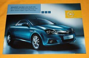 Opel Tigra TwinTop 2004 (CH) Prospekt Brochure Catalogue Heuliez Twin Top