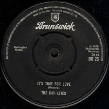 "THE CHI-LITES it's time for love/the coldest days of my life BR 25 uk 7"" WS EX/"