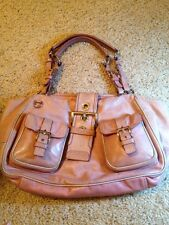 Authentic PRADA Two Front Pockets Pink DISTRESSED LEATHER Shoulder Bag