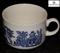 Churchill Earthenware Blue 10 cm Willow Jumbo Cup Serveware Kitchen New