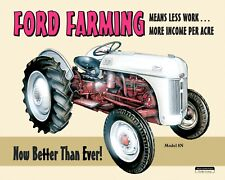 "10"" x 8"" FORD FARMING 9N LITTLE GREY MARE TRACTOR METAL PLAQUE TIN SIGN N023"