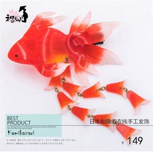 Kimono Yukata Hairpin Goldfish Hair Clip Resin Handmade Accessories Cosplay