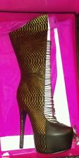 LONDON TRASH BEAUTIFUL LT CRUCIFY LADIES BOOTS IN SIZE 8.5 M. NEW. LEATHER.