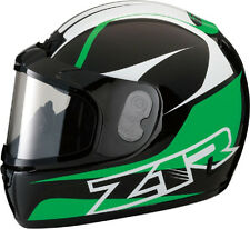 Z1R PHANTOM HELMET + ELECTRIC SHIELD SNOWMOBILE SNOW FULL FACE GREEN LARGE L