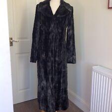 Coast Women's Black Grey Soft Faux Fur Long Coat Size 10 Elegant!!!❤️