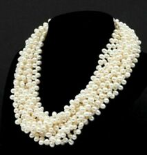 In Tiffany & Co Pearl Choker Sterling Silver 925 Clasp Necklace Paloma Picasso