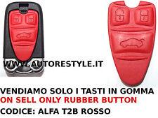 SOLO TASTI GOMMINO ROSSO RICAMBIO PER CHIAVE TELECOMANDO 159 BRERA Q4 ALFA ROMEO