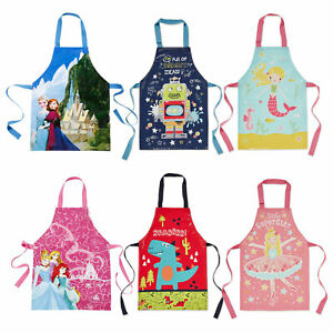 Kids Apron Childrens Cooking Baking - Painting - Playing Aprons For Boys Girls