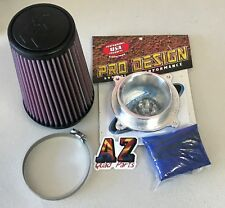 Pro Design Pro Flow K&N Air Filter Intake Kit Yamaha Raptor 700 700R KN 2006-18