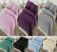 Luxury TEDDY Fleece Duvet Cover Set + Pillow Case Cosy Warm Soft Or Fitted Sheet
