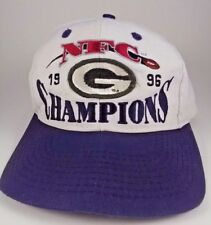 1996 Green Bay Packers Logo Athletic NFC Champions Locker Room Snapback Cap Hat
