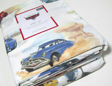 Pottery Barn Kids Disney Pixar Cars Organic Cotton Full Sheet Set New