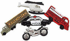 5 Ready to Roll Dress It up Novelty Craft Buttons Embellishments