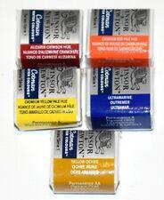 Winsor Newton Cotman Half Pan Watercolors - Crimson Red Yellow Ultramarine Ochre