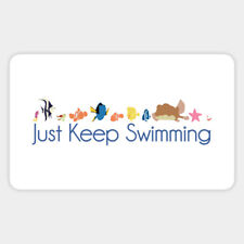 Finding Nemo Just Keep Swimming Quote Fun Vinyl Decal Wall Bumper Laptop Sticker
