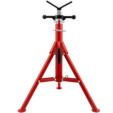 """Pipe Stand Fold-a-Jack V Head, Pipe Capacity 12"""", Height 28""""-52"""", 2500 Lb Steel"""