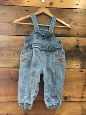 Vintgage Happy Kid Ruffled Overalls With Strawberry Details Excellent Condition