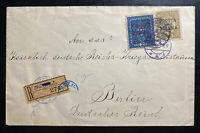 1918 Warsaw Poland Austrian Empire Fake Registered cover To Berlin Germany