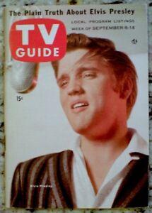 TV Guide 1956 Elvis Presley Sullivan Captain Kangaroo #180 Original MINT COA