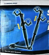 """Highland SPORT WING Hitch-Mounted 2-Bike Carrier 1-1/4"""" & 2"""" TowBar Bicycle Rack"""