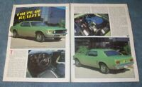 "1970 Ford Mustang Hardtop Vintage Article ""Coupe of Reality"""