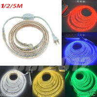 Waterproof 5050 LED Flexible Strip Rope Light For Xmas Party Outdoor Decor 220V