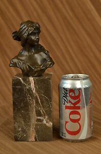 Hand Made bronze sculpture Book Bookend Bust Female Milo Original Signed Gift