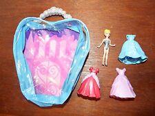 Disney Princess Magiclip Cinderella Moda Bolso Playset Figura Juguete tres vestidos