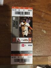 2017 JACK FLAHERTY DEBUT GIANTS ST. LOUIS CARDINALS Season Ticket 9/1 Stub