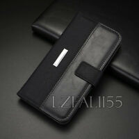 New Black Case For Samsung Galaxy S8 S8 Plus Flip Wallet Magnetic Leather Cover