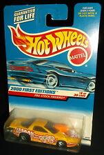 Hot Wheels 2000 #064 First Editions #4 of 36 Pro Stock Firebird Yellow 5SPs