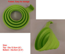 New Silicone Big Collapsible Funnel silicon Kitchen - Green jam