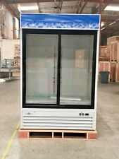 New 80 Commercial Merchandiser Sliding Glass Door Refrigerator Display Nsf Etl