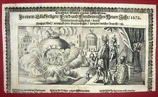 1672 Nürnberg NEUJAHRSGLÜCKWUNSCH Einblattdruck - Rarissimum