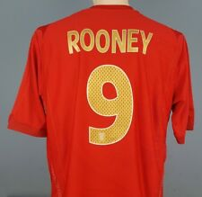 Authentic England 2006-08 Wayne Rooney Away Shirt Size XL Umbro Red (009)