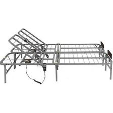 Adjustable Bed Frame Electric Full Split Foundation Base Remote Control Steel