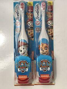 2 - Nickelodeon Paw Patrol Kids Electric Spinbrush Battery Toothbrushes