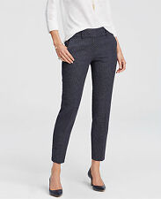 Ann Taylor Kate Fit Geo Jacquard Ankle Pants, Dark Sky, Inseam 28, Size 12, NWT