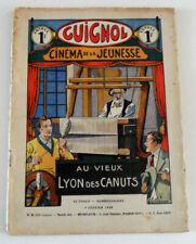 Vintage 1936 GUIGNOL Cinema de la Jeunesse MAGAZINE, Au Vieux Lyon des Canuts #6