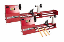 Variable 4 Speed 1 Metre Wood Lathe With Faceplate Centre Tailstock & Chisels